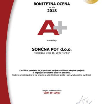 Certifikat bonitetne odličnosti