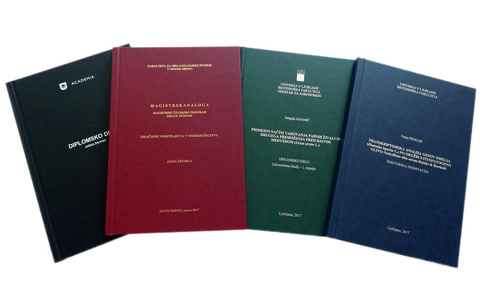 Vezava diplomske naloge že za 12 EUR